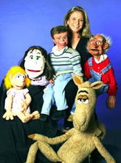 Best booking agency and agent for hiring ventriloquist Lynn Trefzger